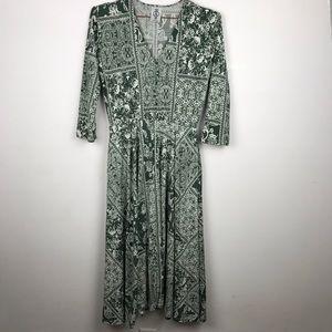 Agnes & Dora Curie Paisley Pocket Midi Dress S
